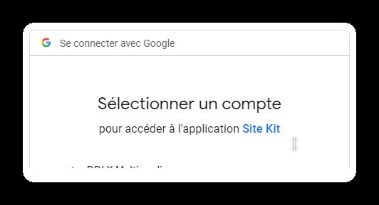 configuration google kit 3