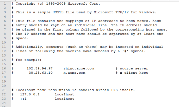 Modifier le fichier host de son ordinateur pour rediriger un domaine.