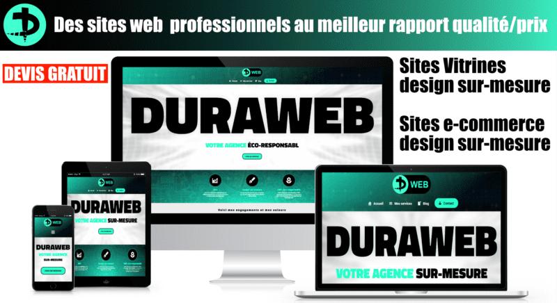 Création Site Internet Sur-Mesure – Duraweb