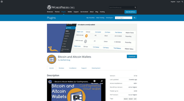 Créez un portefeuille de crypto-monnaie spécialisé dans votre site WordPress avec le plugin Bitcoin & Altcoin Wallets.
