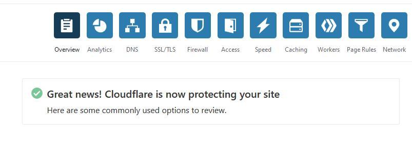 Configuration de Cloudflare terminée avec succès
