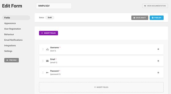 Modifier la zone de formulaire dans Forminator.