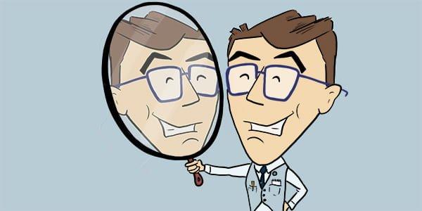 Image de Forminator regardant dans le miroir.