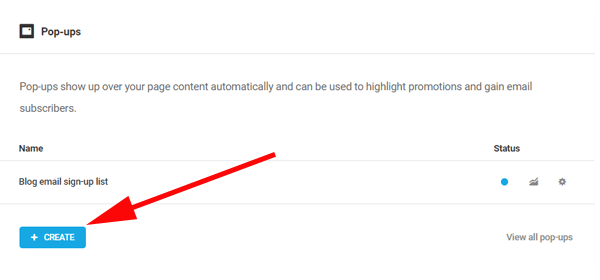 Affichage du bouton sur lequel vous devez cliquer pour créer une fenêtre contextuelle