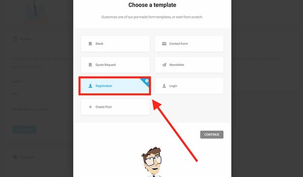 Nouveau formulaire d'inscription dans WordPress.