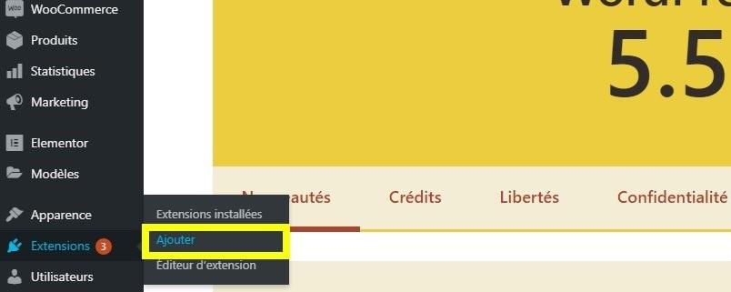 installation duplicate menu