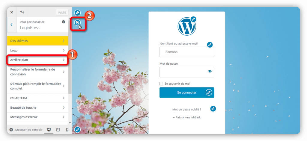 background loginpress