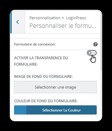 personnalisation disponible