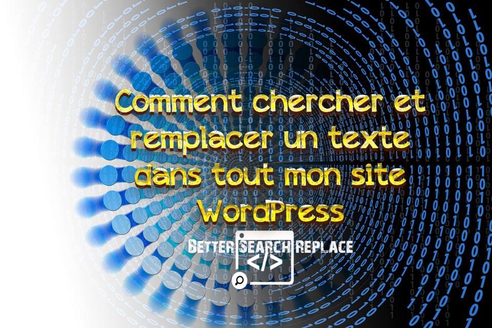 Comment chercher et remplacer un texte dans tout mon site WordPress