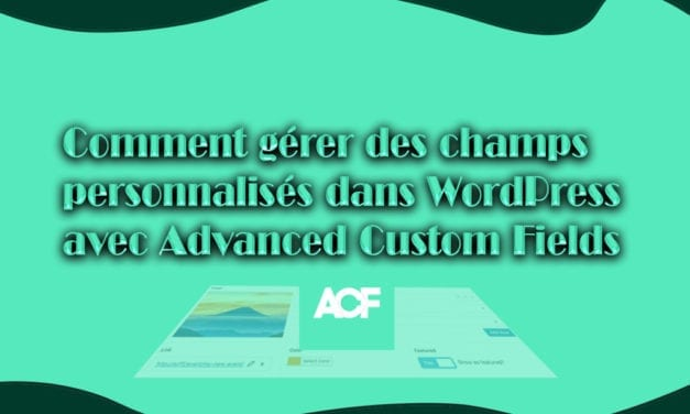 Comment gérer des champs personnalisés dans WordPress avec Advanced Custom Fields