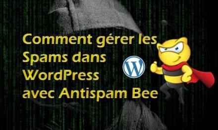 Comment gérer les spam dans WordPress avec Antispam Bee