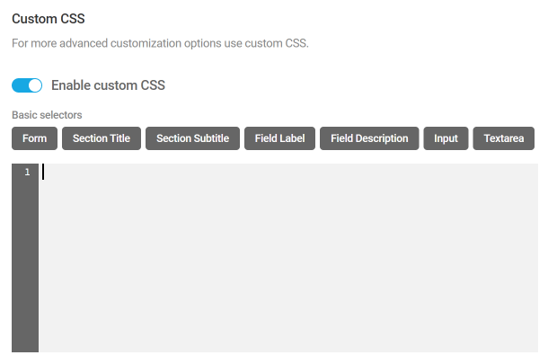 Ajouter du CSS personnalisé aux formulaires Forminator