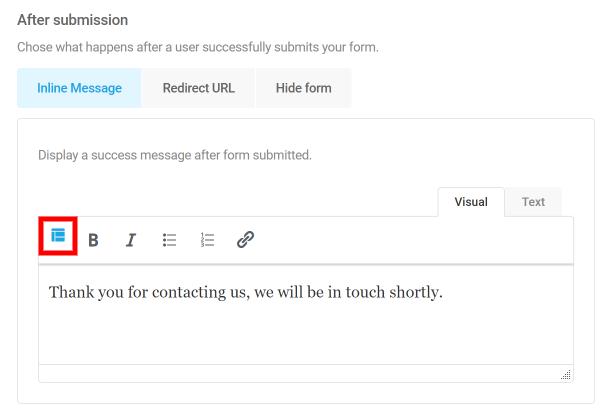 Contrôler le comportement de soumission des formulaires dans Forminator