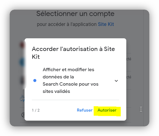 configuration google kit 4