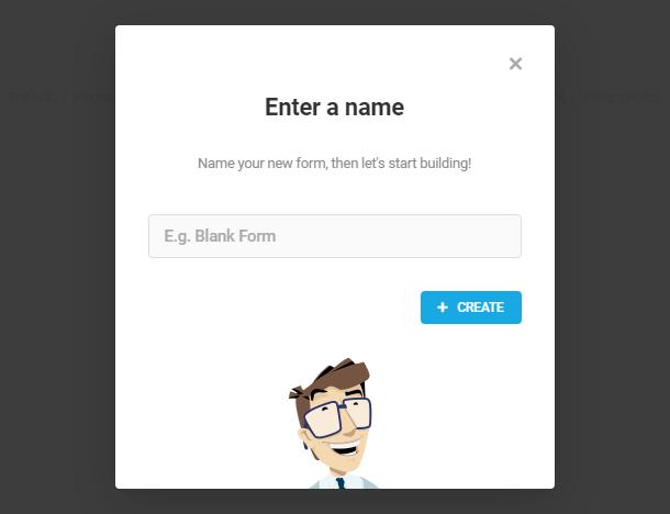 Entrez le nom du nouveau formulaire dans Forminator