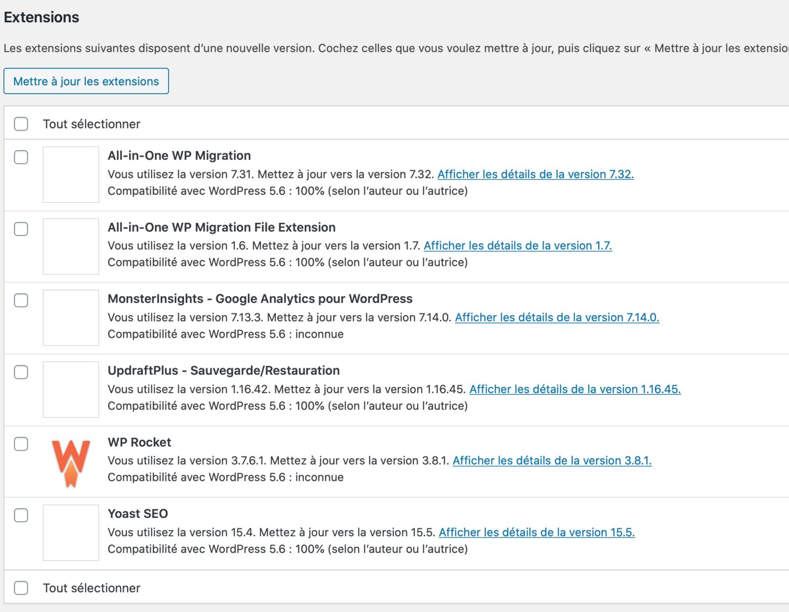 Problème de chargement divi & images : WordPress