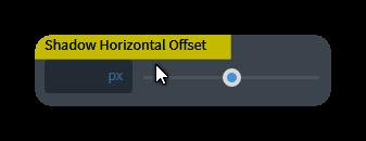 sahdow offset horizontal