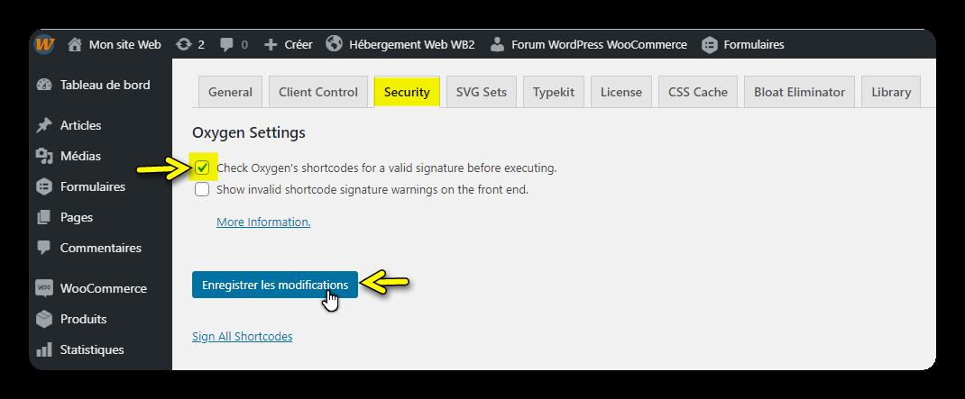 signature shortcodes