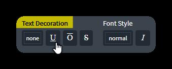 text decoration