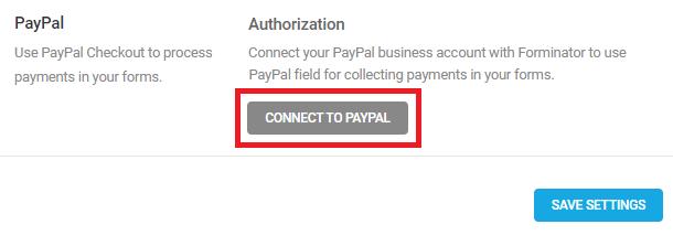 Connectez PayPal à Forminator