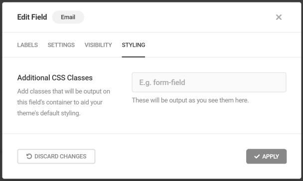 Ajouter des classes CSS personnalisées au champ Forminator