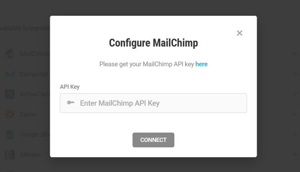 Obtenez la clé API MailChimp pour l'intégration avec Forminator