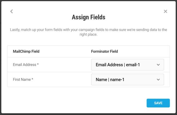 Faire correspondre les champs du formulaire Forminator avec MailChimp