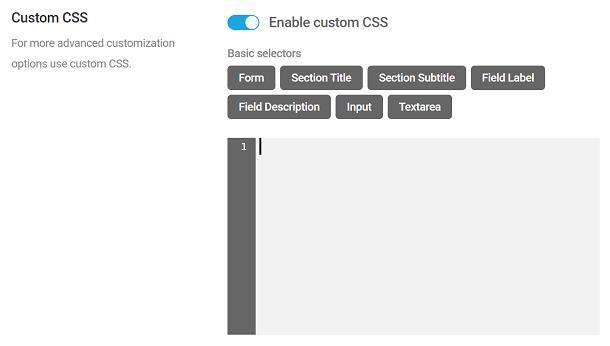 Ajouter un CSS personnalisé à un sondage Forminator