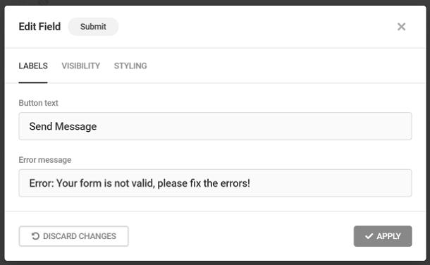 Personnaliser les étiquettes des boutons d'envoi dans le formulaire Forminator