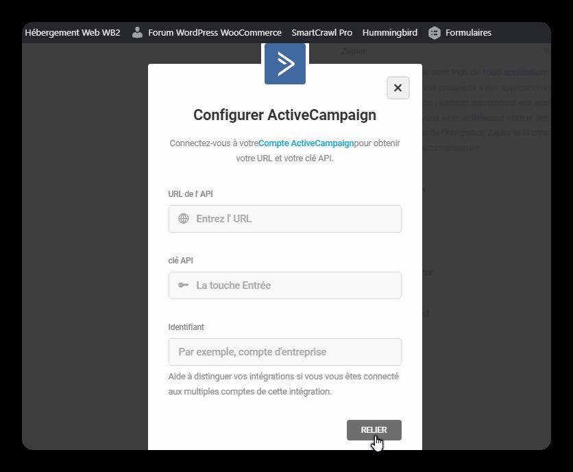 configurer activecampaign