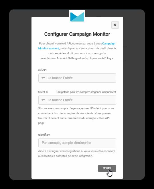 configurer campaign monitor