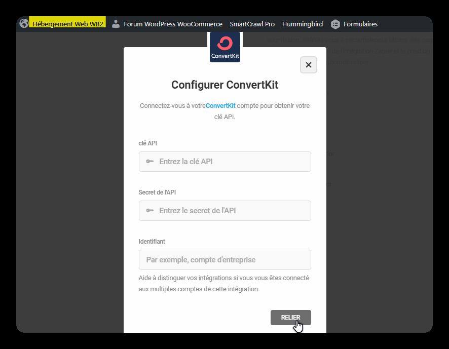 configurer convertkit
