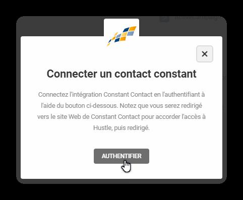 connecter un contact constant