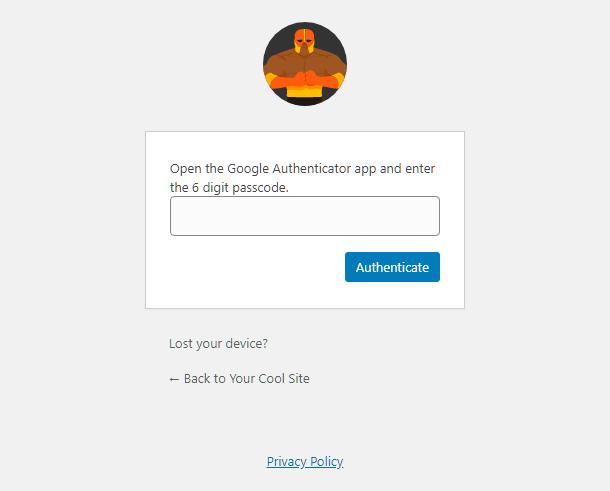 Entrez le code d'authentification à 2 facteurs dans l'écran de connexion sur le site