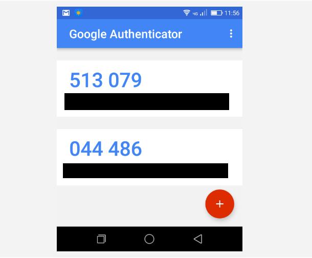 Code d'authentification à 2 facteurs sur le téléphone