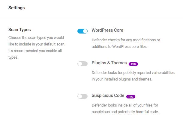 Paramètres d'analyse des logiciels malveillants dans Defender