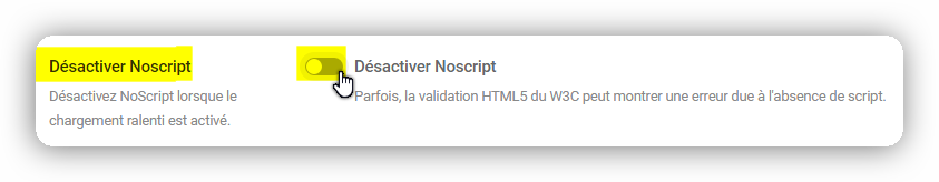 desactiver noscript