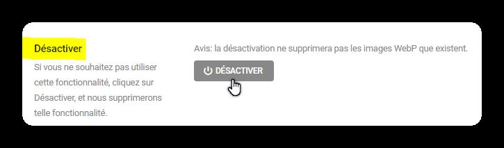 desactiver webp