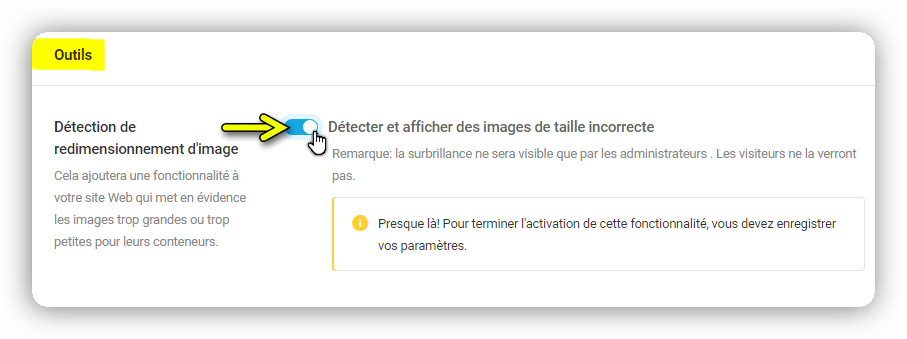 detection de redimensionnement dimage