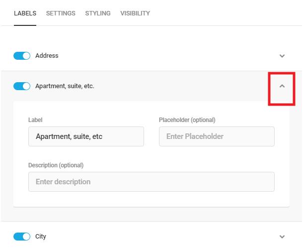 Modifier les étiquettes des sous-champs d'adresse dans Forminator