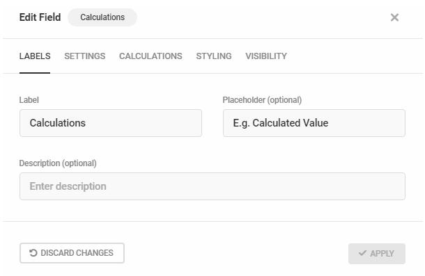 Modifier les étiquettes de champ de calculs dans Forminator