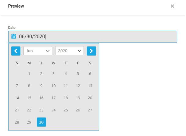 Format de calendrier par défaut dans un champ Forminator Datepicker