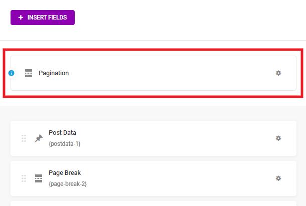 Paramètres de pagination lorsque les sauts de page sont utilisés dans un formulaire Forminator