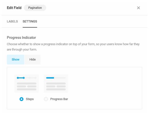 Définir un indicateur de progression pour la pagination dans un formulaire Forminator
