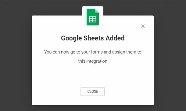 Intégration de Google Sheets dans Forminator terminée