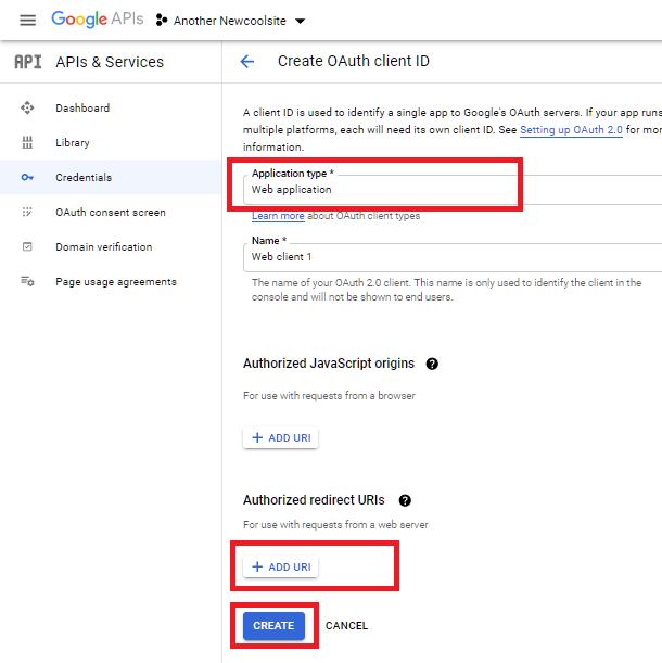 Sélectionnez l'application Web pour l'intégration de Google Sheets dans Forminator
