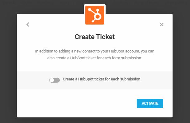 Créer un ticket HubSpot avec l'intégration Forminator