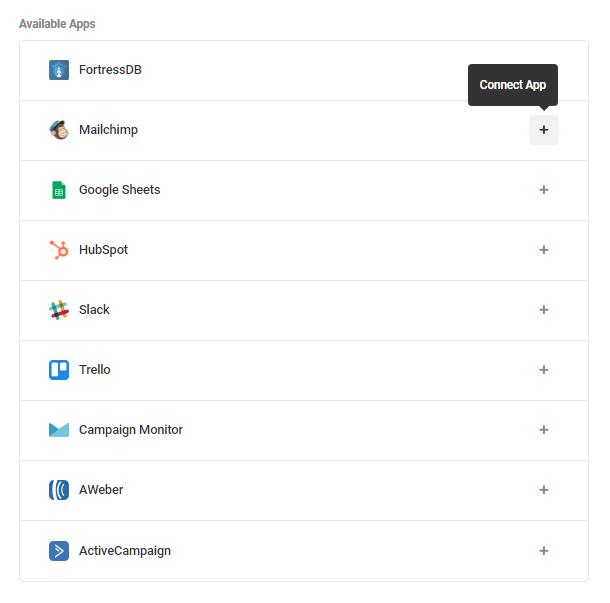 Intégrer MailChimp sous forme Forminator