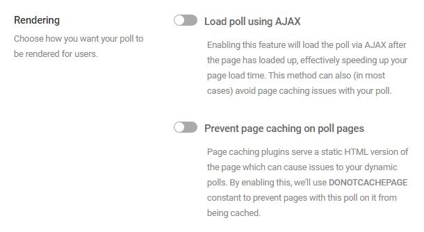 Ajuster les options de rendu dans le sondage Forminator