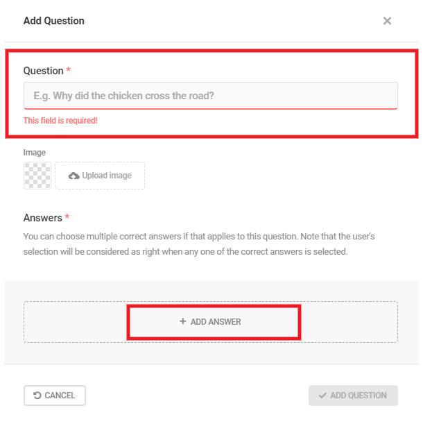 Ajouter un titre et une réponse à une question de quiz dans Forminator